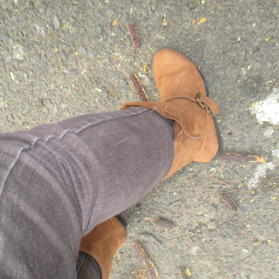 riding boots went to lunch