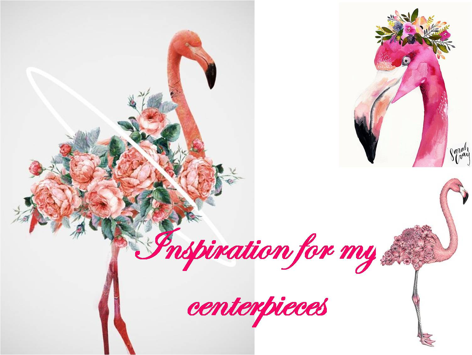 FLAMINGO CENTERPIECES
