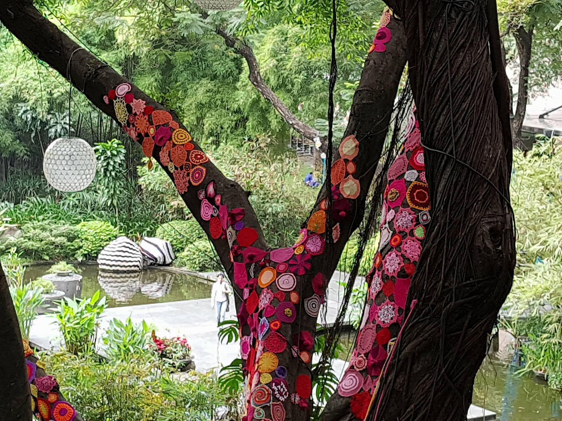 doilies on branches
